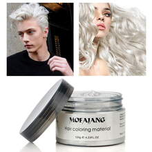 цена на Temporary Hair Color Wax Men DIY Mud One-time Molding Paste Dye Cream Hair Gel for Hair Coloring Styling Paint Wax Silver Grey