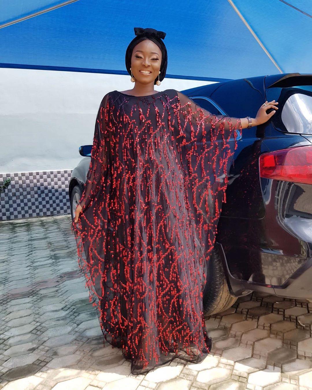 Image 3 - Африканские платья для женщин шифон большой рукав Блестки халат длинное платье макси цветочный длинный внутренний Африка одежда-in Африканская одежда from Новый и особенный в использовании