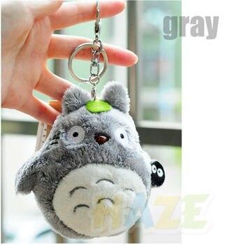 цена на Anime My Neighbor Totoro Plush Doll Toys Keychain Keyring Pendant Keychain Totoro Plush Toy Kids 10cm Gifts