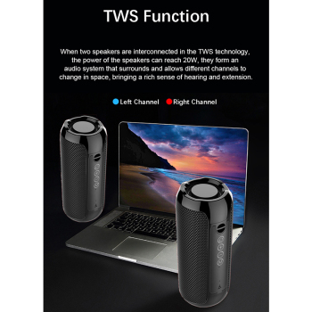 YABA Bluetooth Speaker Portable Outdoor Sport Loudspeaker Wireless Mini Column Music Player Support FM Radio Aux Input 6