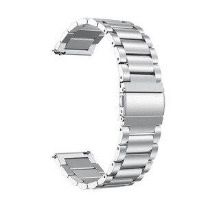 Image 5 - 時計バンドサムスンギャラクシー腕時計アクティブ2 44ミリメートル40ミリメートルバンド20ミリメートルステンレス鋼チェーンメタルブレスレット手首ストラップamazfitためbip