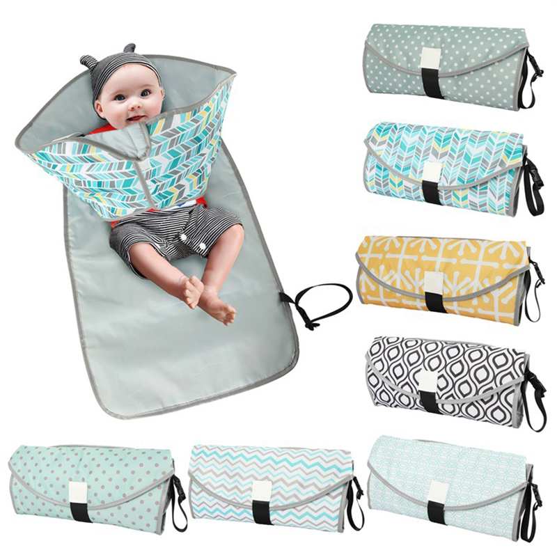 3-in-1 Baby Changing Pads Multifunctional Portable Infant Baby Foldable Urine Mat Waterproof Nappy Bag Diaper Cover Mat Travel