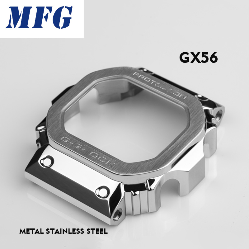 Watchband GX56 GWX56 And Bezel Belt  Metal Strap Bezel Stainless Steel Tools Case Frame