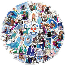 Adesivos frozen 50 peças, frozen 2 princesa elsa graffiti adesivo para crianças no laptop mala de skate bicicleta