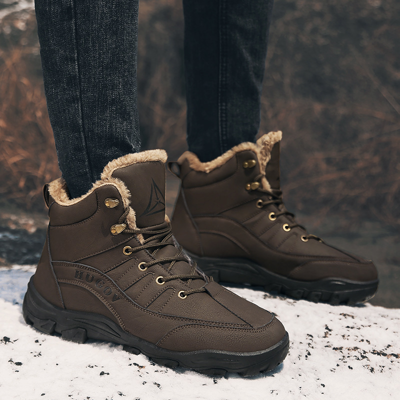 Promo Keep Warm Waterproof Non-slip Northeast 2020 Winter Will Cotton Boots High Help Outdoors Mountaineering Thickening Shoes