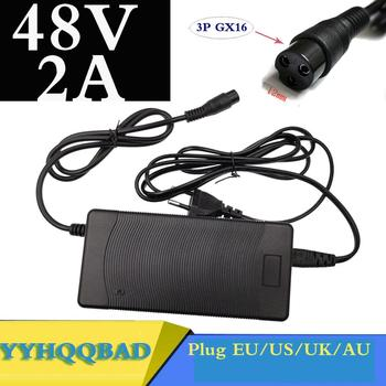 цена на 48V 2A Lead acid Battery Charger for 57.6V Lead acid Battery Electric Bicycle Bike Scooters Motorcycle Charger 3P GX16 Plug