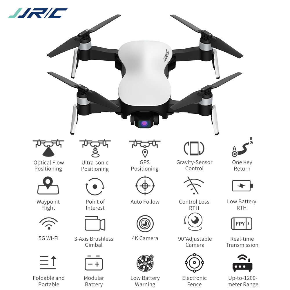 JJRC X12 GPS Drone 5G WiFi FPV Brushless Motor 1080P HD Camera GPS Dual Mode Positioning Foldable RC Drone Quadcopter RTF image