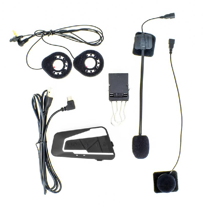 2 stücke Motorrad Helm Bluetooth Docking Maschine 1200 M High-definition-Sound T9S-2 Moto Intercom Headset