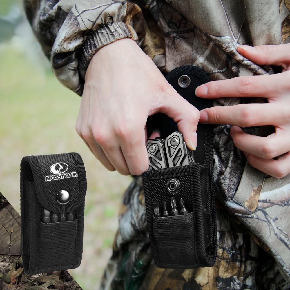 MOSSY OAK 21 in 1 Multi Plier Wire Stripper Folding Plier Outdoor Camping Multitool  Pocket Mini Portable Folding Pliers 6