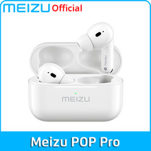 Meizu pop pro tws fone de ouvido bluetooth 5.0 cancelamento ruído ativo fones sem fio 300mah caixa carregamento da bateria para o telefone móvel