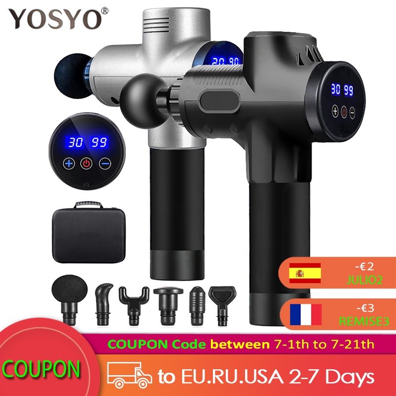 LCD Display Massage Gun Deep Muscle Massager Muscle Pain Body Neck Massage Exercising Relaxation Slimming Shaping Pain Relief|Fascia Gun| - AliExpress