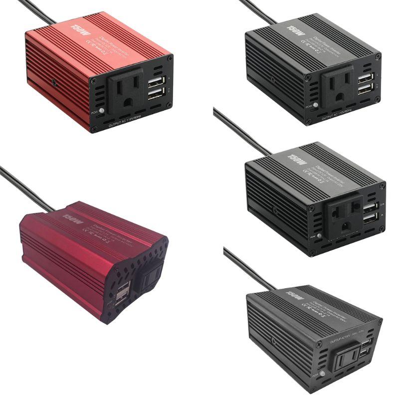 150W samochodowa przetwornica napięcia podwójna przejściówka do ładowarki samochodowej USB 3.1A 12V do 100V