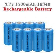 1500mah 3.7v 16340 baterias recarregáveis cr123a bateria led lanterna viagem carregador de parede para 16340 cr123a li-ion bateria
