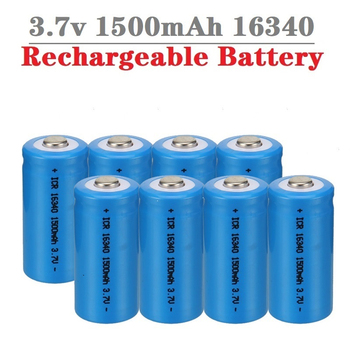 1500mAh 3.7V 16340 Rechargeable Batteries CR123A Battery LED Flashlight Travel Wall Charger For 16340 CR123A Li-ion Battery 12pcs pkcell lithium battery cr123a cr 123a cr17345 16340 cr123a 3v non rechargeable batteries for camera gas meter primary dry