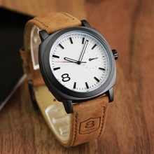Casual Sport Watches for Men Blue Top Brand Luxury Military Leather Wrist