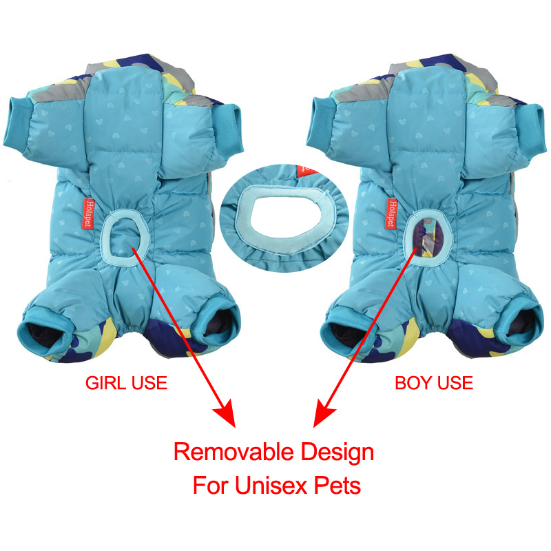 Reflective and Warm Dog Jacket and Waterproof Winter Dog Clothing with Strong Zipper and D-Ring 3