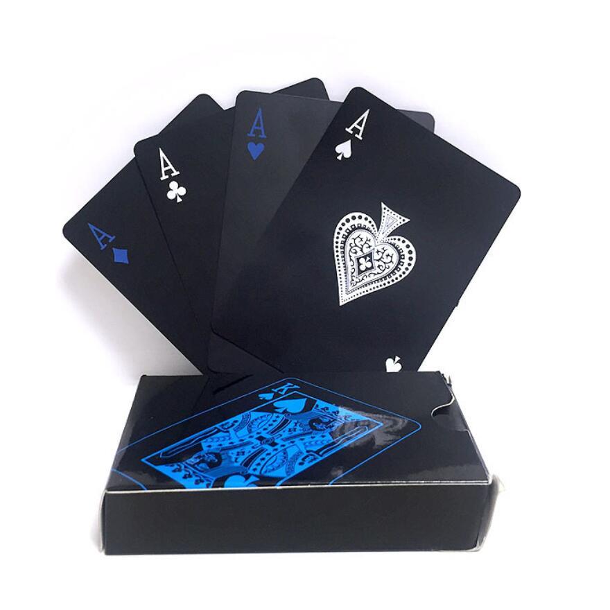 quality-waterproof-pvc-plastic-playing-cards-set-trend-54pcs-deck-font-b-poker-b-font-classic-magic-tricks-tool-pure-black-magic-box-packed