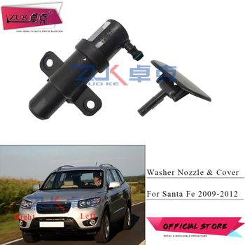 For Hyundai Santa Fe 2.4L 2009 2010 2011 2012 Headlight Washer Nozzle Headlamp Cleaning Water Spray Jet Actuator + Cover Lid Cap