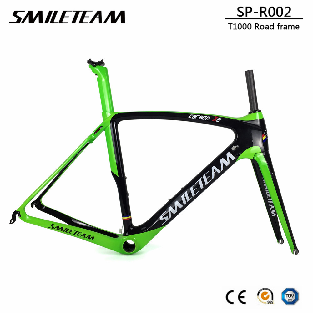 T1000 Carbon Road Bike Frame 700C Full Carbon Racing Road Bicycle Frameset BB386 Size 50/53/55/57cm 2 Years Warranty