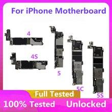 Placa mãe para iphone 4S original mainboard fábrica desbloqueio para iphone 4S placa lógica com sistema operacional completo chips 8gb/16gb/32gb