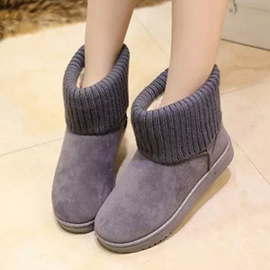 Image 3 - FEVRAL Women Boots Woman Keep Warm With Fur Outdoor Snow Boots Fashion Travel Short Plush Casual Shoes Woman Suede Ankle Boots