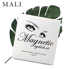 3 pary magnetyczne rzęsy zestaw magnes płynny eyeliner i magnetyczne rzęsy i pęseta zestaw wodoodporny długi trwały przedłużanie rzęs tanie tanio Malishangpin
