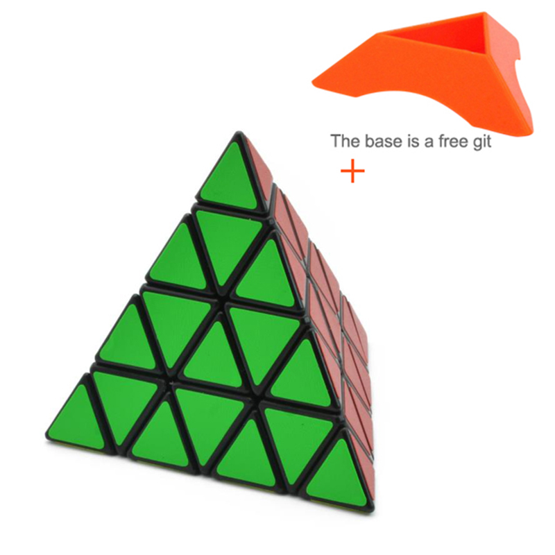 4 Four Steps Pyramid Magic Neo Cube Solid Color In Order To Smooth Triangle Magic Cube Student Alpinia Oxyphylla Power Toys