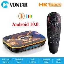 2020 Android 10 smart TV, pudełko HK1 Rbox 4GB pamięci RAM 64GB Rockchip RK3318 Android 10.0 HK1 Max Youtube 4GB pamięci RAM 32GB Set Top Box
