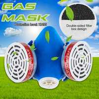 Activated Carbon Half Face Painting Spraying Respirator Gas Mask Safety Work Filter Dust Mask Double Filter Chemical paint mask
