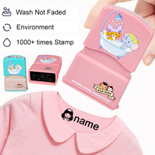 DIY Customized Name Stamp Baby Children Kindergarten Cartoon Waterproof Stamp Student Clothes Seal Customized Stamp