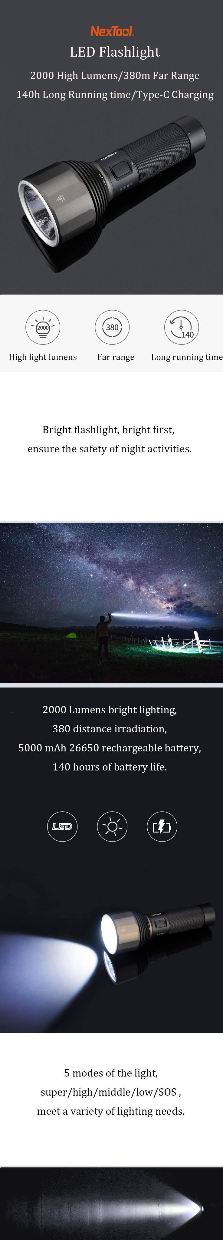 Xiaomi Nextool Flashlight IPX7-3