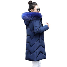 Grote Bont 2019 Nieuwe Parka Vrouwelijke Winter Jas Vrouwen Plus size 6XL Winter Jacket Womens Uitloper Parka voor Vrouwen Winter donsjack(China)