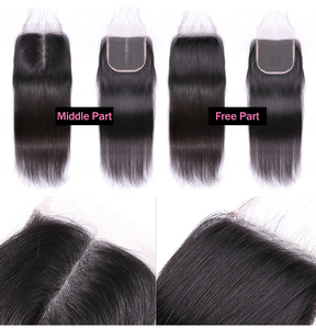 Image 5 - ISEE HAIR Malaysian Straight Hair Closure Middle Part Lace Closure Hand Tied Remy Human Hair Extension Free Shipping Can Be Dyed