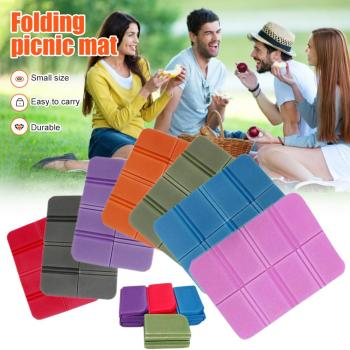 Foldable Folding Outdoor Camping Mat XPE Waterproof Seat Foam Pad Chair Picnic Moisture-proof Mattress Beach Mat Pad 38*27cm image