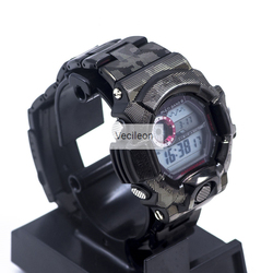 GW-9400 Watch band Black Camouflage Watchband Bezel/Case Metal  316L Stainless Steel Watch Set Watch Strap Cover with Tools