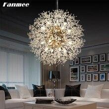 Modern Chandelier Lighting LED G9 Nordic Clear Crystal Starburst Home Hanging Lamp Art Deco Party Foyer Hall Bedroom Living Room
