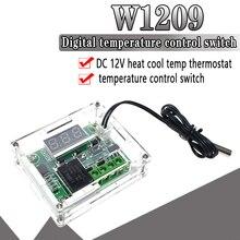 1PCS W1209 DC 12V heat cool temp thermostat temperature control switch temperature controller thermometer thermo controller стоимость