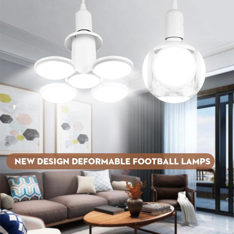 Deformable E27 LED Bulb Football Led Garage Light Bulbs 220V Industrial Workshop Lights 40w  For Warehouse Factory Lighting