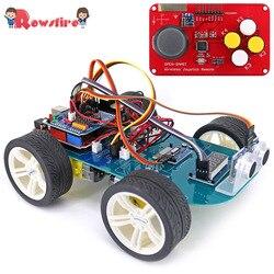 Новый 4WD беспроводной джойстик DIY пульт дистанционного управления умный автомобиль программируемый высокотехнологичный набор игрушек с уч...