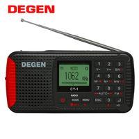 DEGEN CY-1 비상 라디오 FM /MW/ SW 디나모 솔라 알람 시계 단파 라디오 LCD/SOS/블루투스/MP3/레코더 휴대용 라디오
