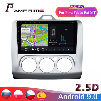 AMPrime 9'' Android 9.0 Car Radio Multimedia video player for Ford Focus Exi MT 2004-2011 GPS 2 din Car Autoradio image