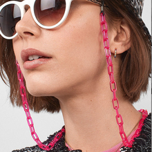 Trendy Punk Style Light Weight Acrylic SunglassChain 5 Candy Colors Roseo Link Chain Access