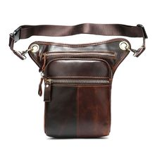 Men Motorcycle Rider Leather Drop Leg Bag Tactical Military Belt Waist Fanny Pack Bags цена и фото