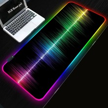 LED Light Desk Mat xxl Computer Mousepad world map 80x30 90x40cm Backlight Keyboard Cover Keyboard Mause Gaming Mouse Pad RGB
