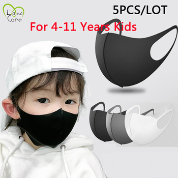 5Pcs/lot For 4-11 Years Kids Children Mouth Mask proof Pollution Mask PM2.5 Air Dust Face Masks Washable & Reusable Mouth Cover
