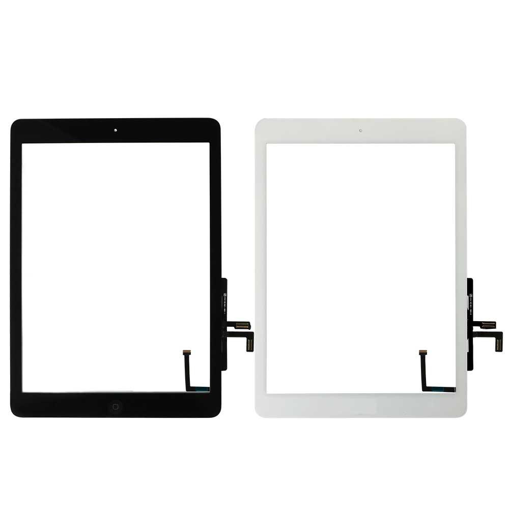 Для Ipad Air 1 сенсорный экран A1474 A1475 A147 дигитайзер сенсор+ кнопка домой+ гибкий клей+ Инструменты для ремонта сборка стеклянная панель