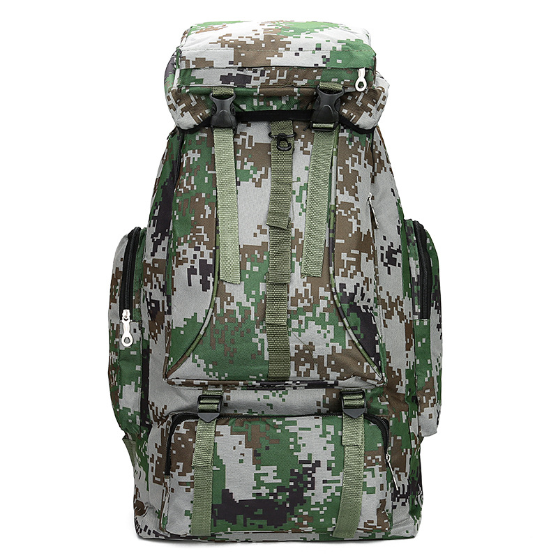 Camouflage Computer Backpack Outdoor Backpack Mountaineering Bag Large Capacity Multi-functional Waterproof Backpack