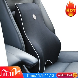 Image 1 - Car Cushion Seat Lumbar Support Office Chair Low Back Pain Pillow Memory Foam Black Posture Correction Car Product Dropshipping