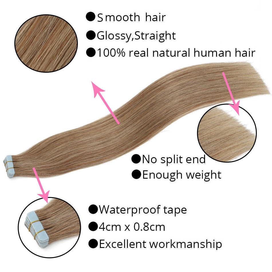 Mrshair 40 Pcs Tape In Human Hair Extensions 100 Gram 18 Inches Machine Remy Haar Op Tape Pu Huid Inslag naadloze Menselijk Haar