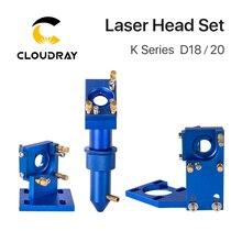 Cloudray Juego de cabezales láser CO2 Serie K, D12 18 20, lente para 2030 4060 K40, máquina cortadora de grabado láser